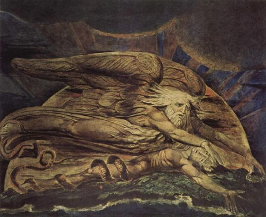 Elohim Creating Adam by William Blake