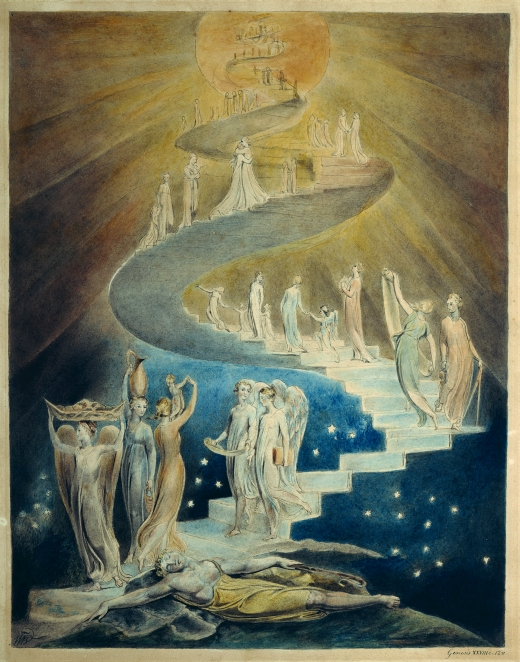 William Blake's painting of Jacob's Ladder